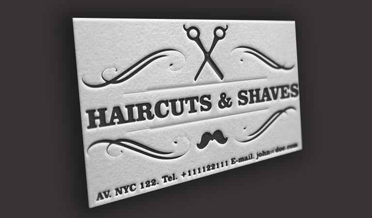 کارت ویزیت آرایشگاه مردانه - طراحی یک بافت منحصر به فرد