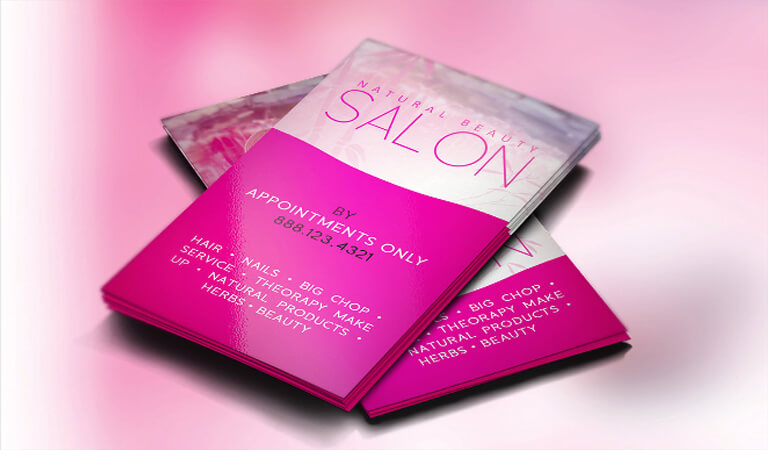 کارت ویزیت آرایشگاه زنانه - براق و مدرن