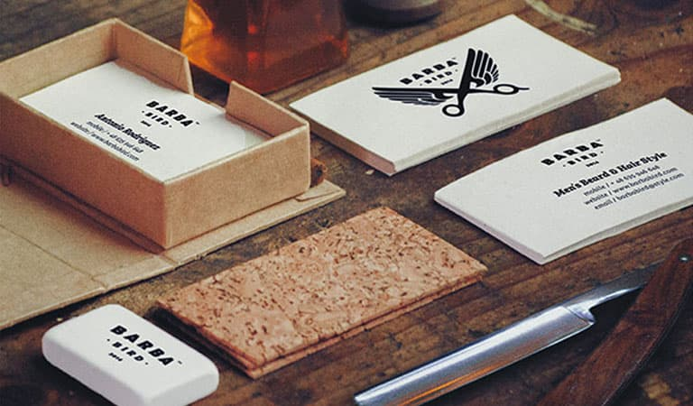 کارت ویزیت آرایشگاه مردانه - پرنده ی باربا