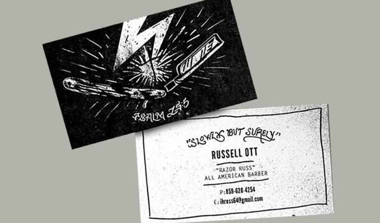 کارت ویزیت آرایشگاه مردانه - کارت آرایشگر