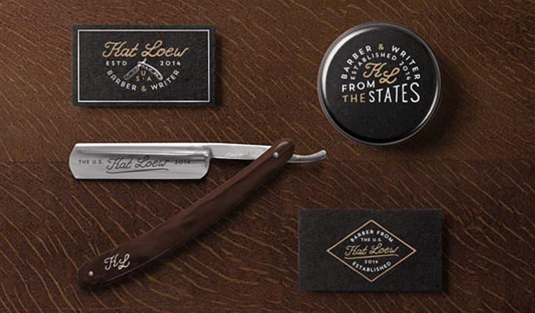 کارت ویزیت آرایشگاه مردانه - آرایشگر و آرایش