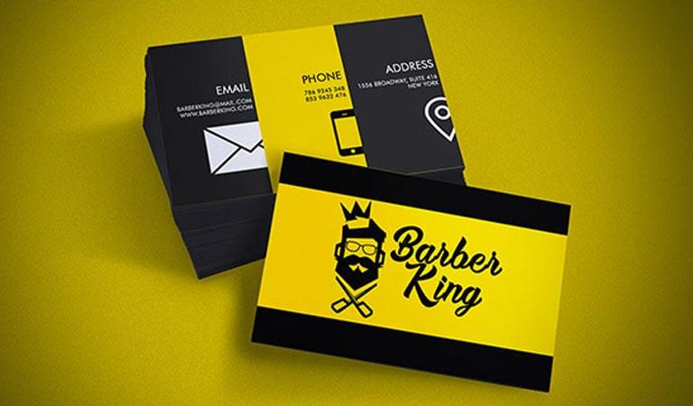 کارت ویزیت آرایشگاه مردانه - پادشاه آرایشگر