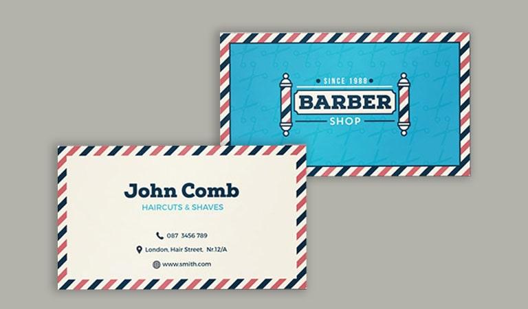 کارت ویزیت آرایشگاه مردانه - آرایشگاه