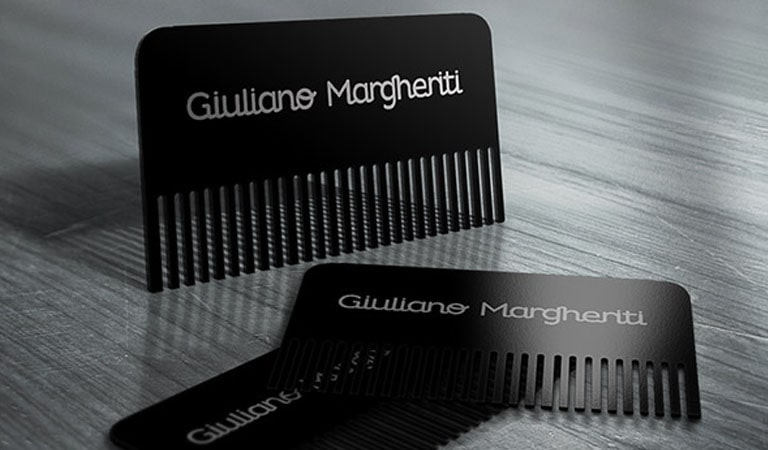 کارت ویزیت آرایشگاه مردانه - کارت شانه