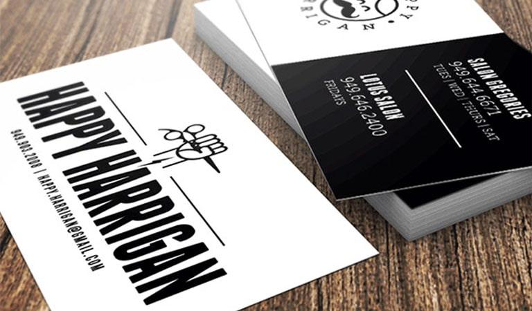 کارت ویزیت آرایشگاه مردانه - خوشحال