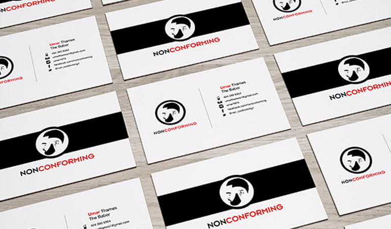 کارت ویزیت آرایشگاه مردانه - عدم تطابق