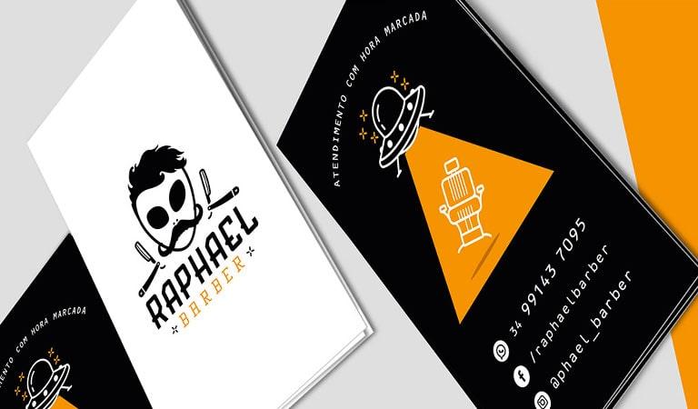 کارت ویزیت آرایشگاه مردانه - رافائل