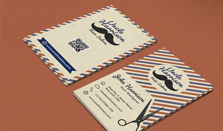 کارت ویزیت آرایشگاه مردانه - آرایشگاه مطابق با سبک قدیمی