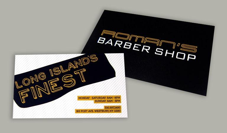 کارت ویزیت آرایشگاه مردانه - رومی