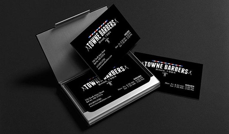 کارت ویزیت آرایشگاه مردانه - آرایشگران تاون