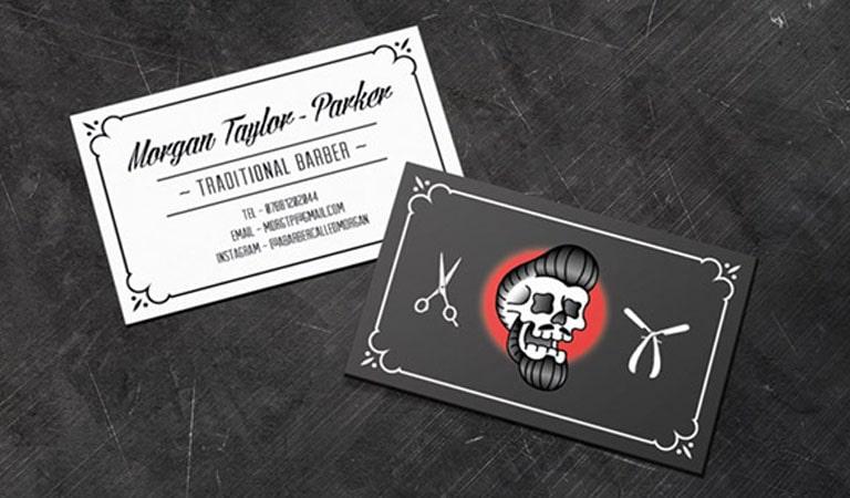 کارت ویزیت آرایشگاه مردانه - آرایشگر سنتی