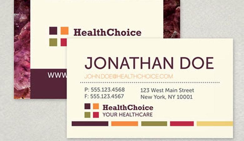کارت ویزیت پزشکی - کارت ویزیت مرکز Health Choice