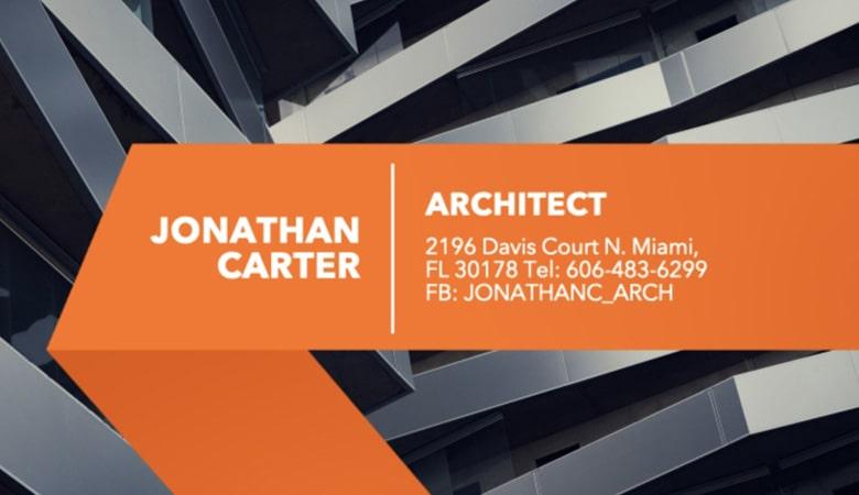 کارت ویزیت املاک - کارت ویزیت شرکت معماری