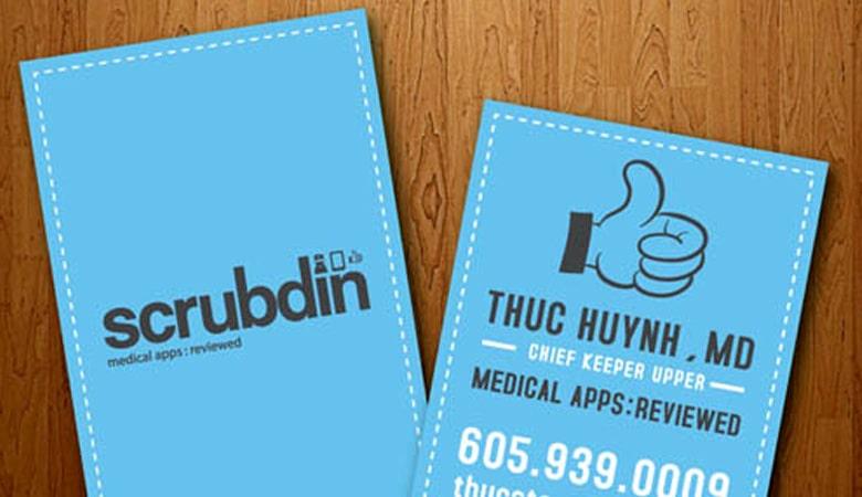 کارت ویزیت پزشکی - کارت شناسایی ScrubdIn