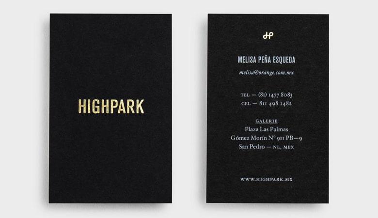 کارت ویزیت املاک - HighPark
