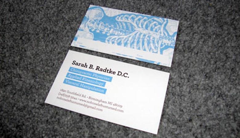 کارت ویزیت پزشکی - کارت ویزیت سارا رادتکه