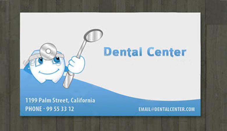 کارت ویزیت پزشکی - مطب دندانپزشکی
