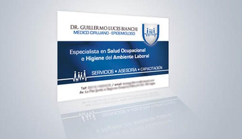 کارت ویزیت پزشکی - کارت ویزیت دکتر لوسس بیانچی