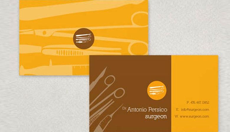 کارت ویزیت پزشکی - کارت ویزیت آنتونیو پرسیکو