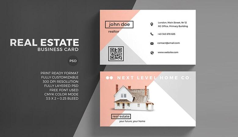 کارت ویزیت املاک - قالب مدرن کارت ویزیت