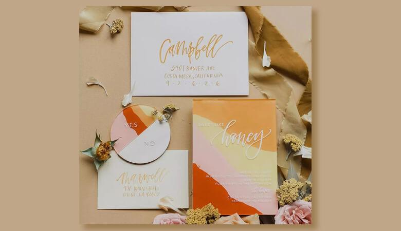 طراحی کارت عروسی - رنگها را مسدود کنید