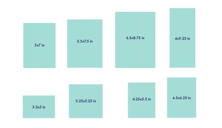طراحی کارت دعوت - با ابعاد کارت خود شروع کنید