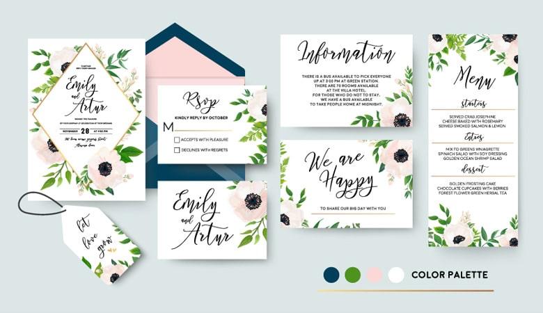 طراحی کارت دعوت - انسجام داشته باشید