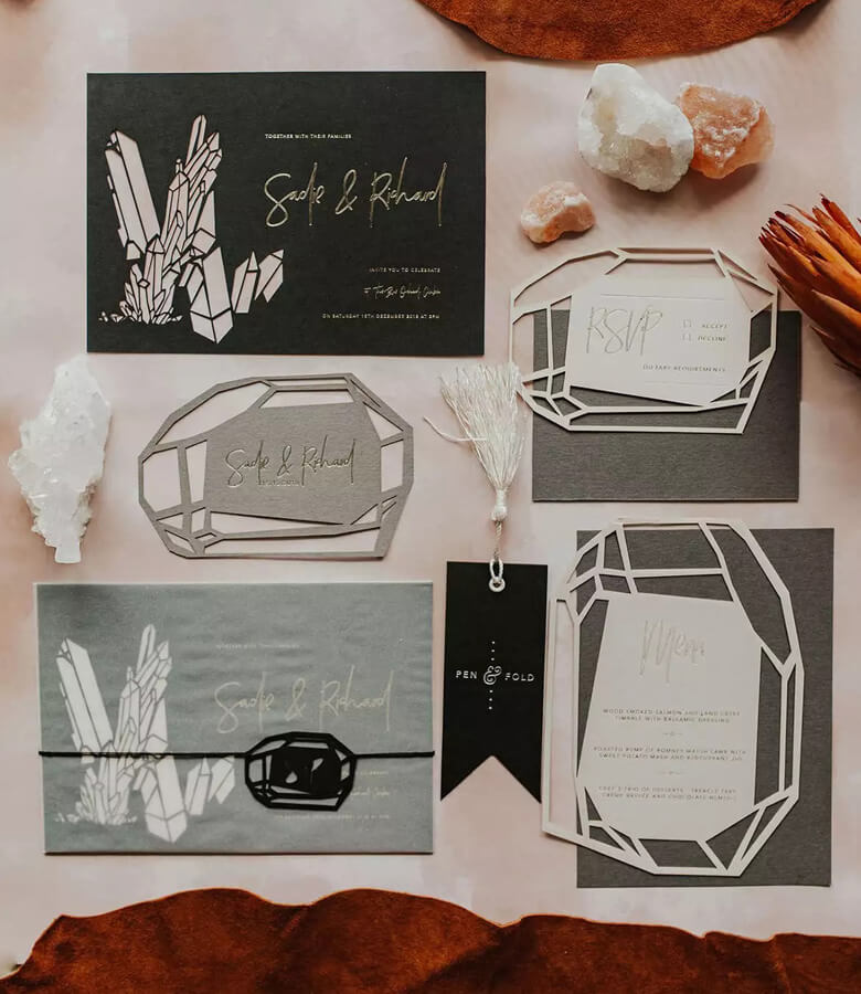 طراحی کارت عروسی - گلچین کنید