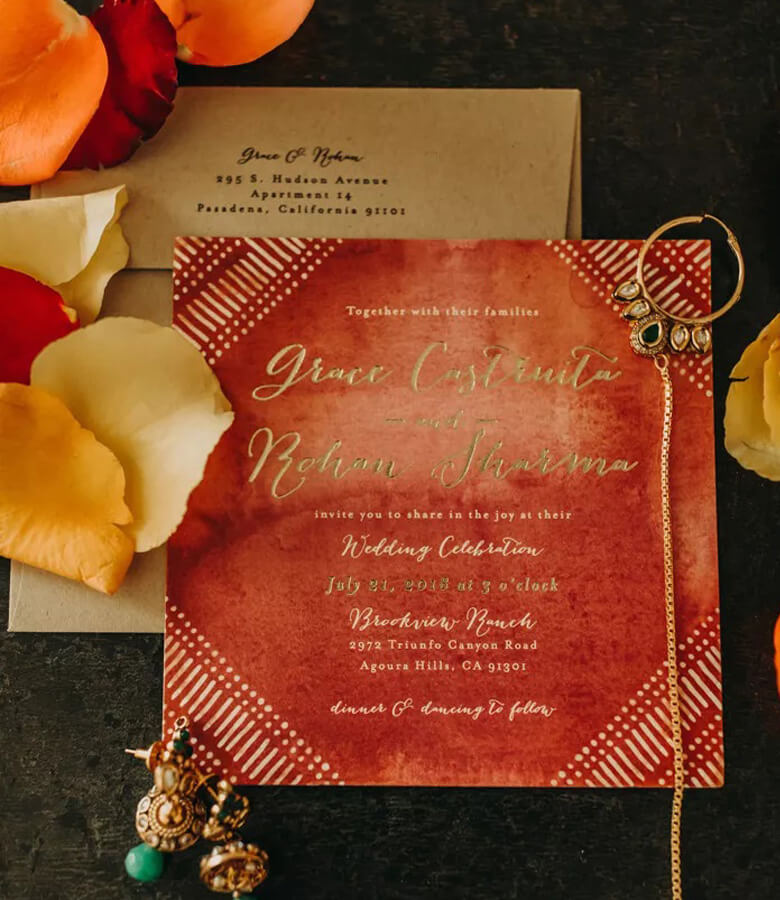 طراحی کارت عروسی - از تناژهای گرم استقبال کنید