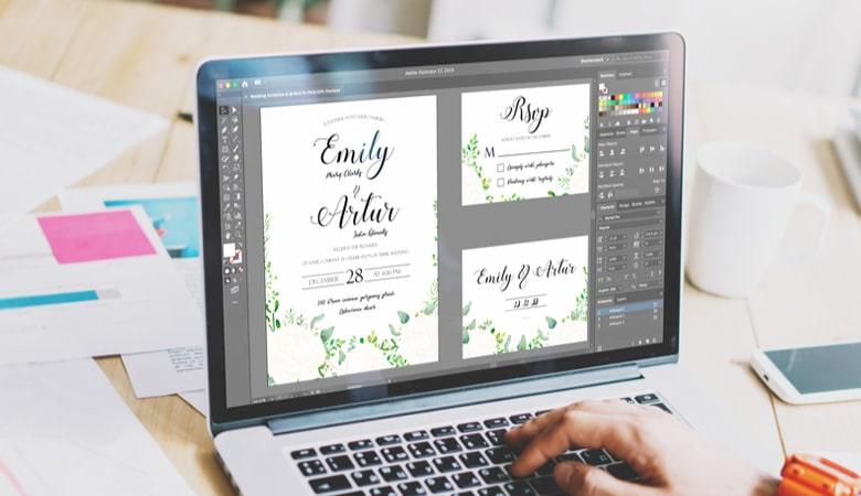 طراحی کارت دعوت - زود شروع به طراحی کنید