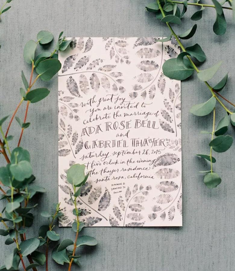 طراحی کارت عروسی - رنگها را مینیمال نگه دارید