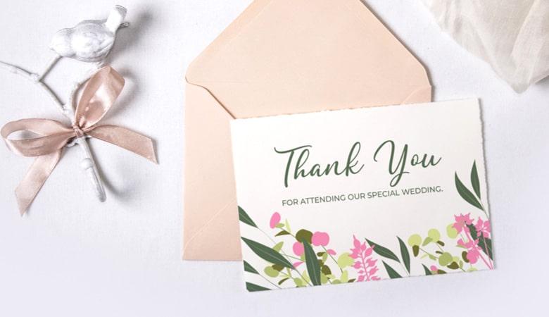 طراحی کارت دعوت - فراموش نکنید که کارت های تشکر ارسال کنید