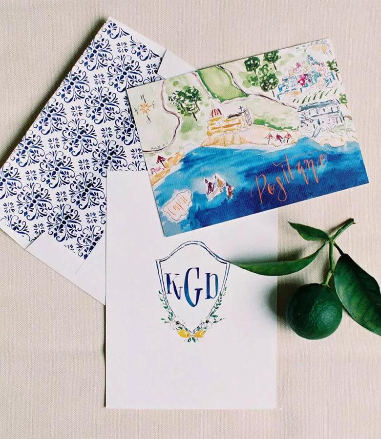 طراحی کارت عروسی - به مقصد خود اشاره کنید