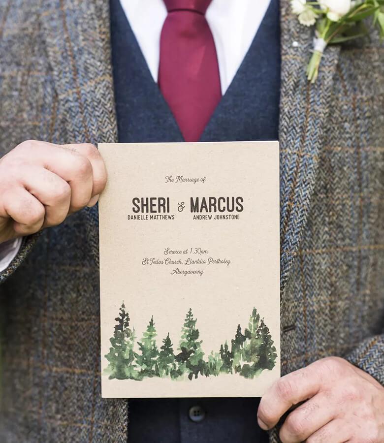 طراحی کارت عروسی - سادگی ر ا رها نکنید