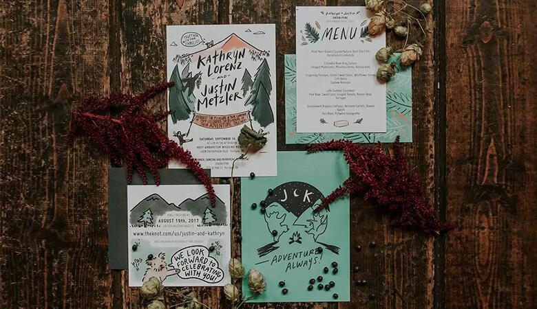 طراحی کارت عروسی - از فضای بیرون الهام بگیرید