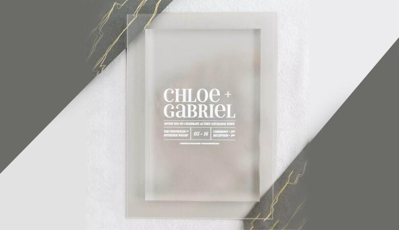 طراحی کارت عروسی - واضح و شفاف فکر کنید