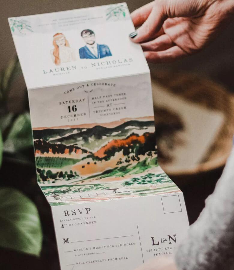 طراحی کارت عروسی - با تصاویر سرگرم شوید