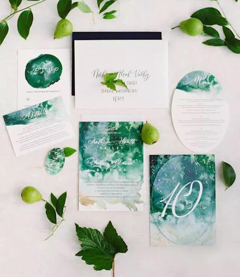طراحی کارت عروسی - با آبرنگ کار کنید