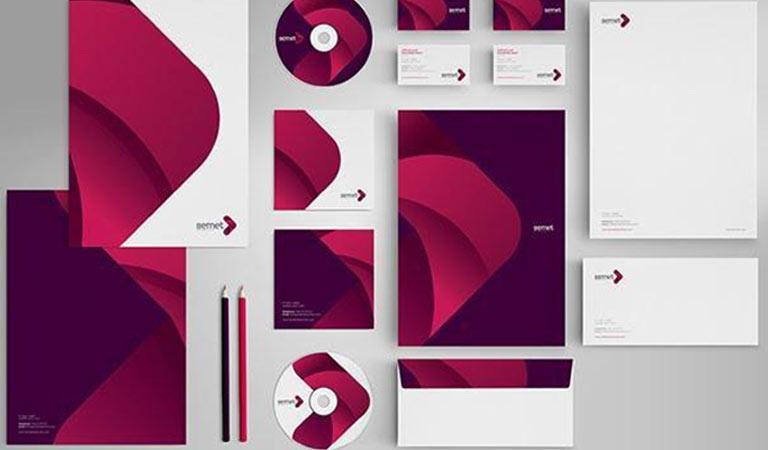 طراحی ست اداری - برندینگ Semet Interactive