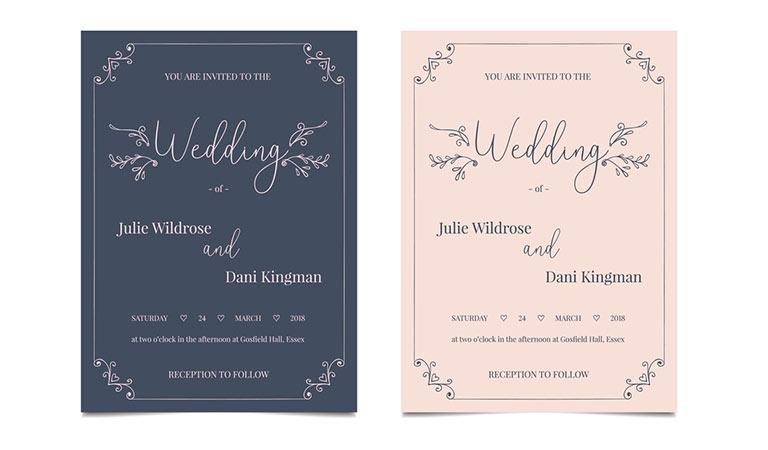 طراحی ست اداری - ست اداری دعوت عروسی