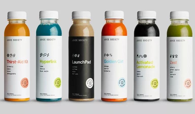 انجمن آبمیوه (Juice Society)-طراحی بسته بندی