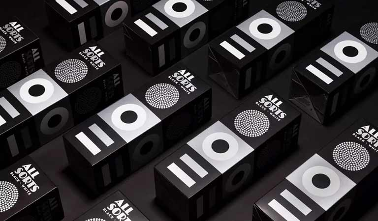 Allsorts سیاه و سفید (Allsorts Black and White)-طراحی بسته بندی