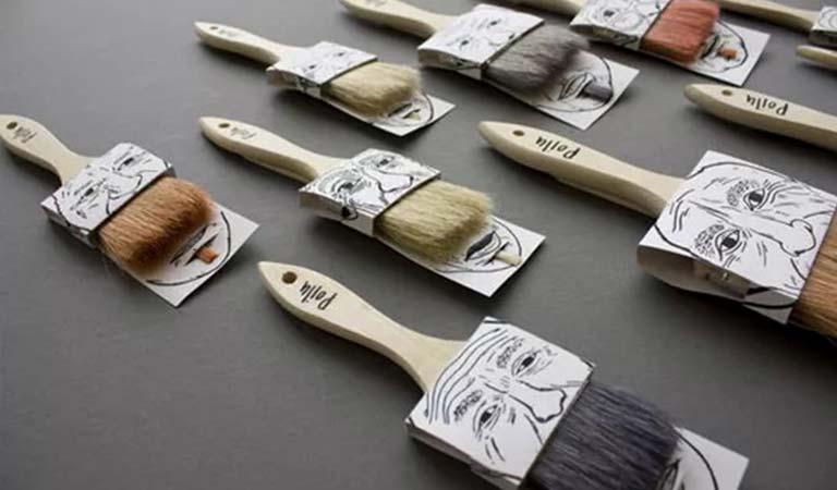 قلم موهای رنگ آمیزی پویلو (Poilu paintbrushes)-طراحی بسته بندی