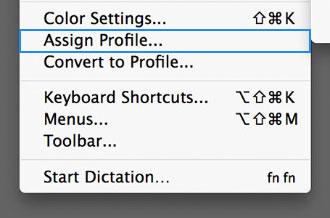اختصاص پروفایل در مقابل تبدیل به پروفایل - نحوه ی استفاده از رنگ