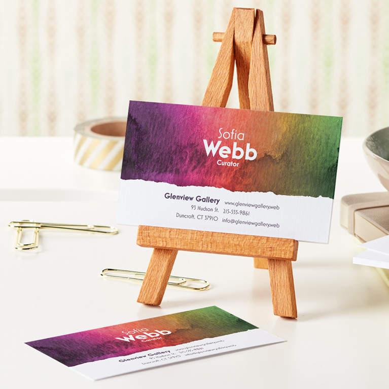 کارتهای ویزیت برای صنایع خلاق - طراحی کارت ویزیت