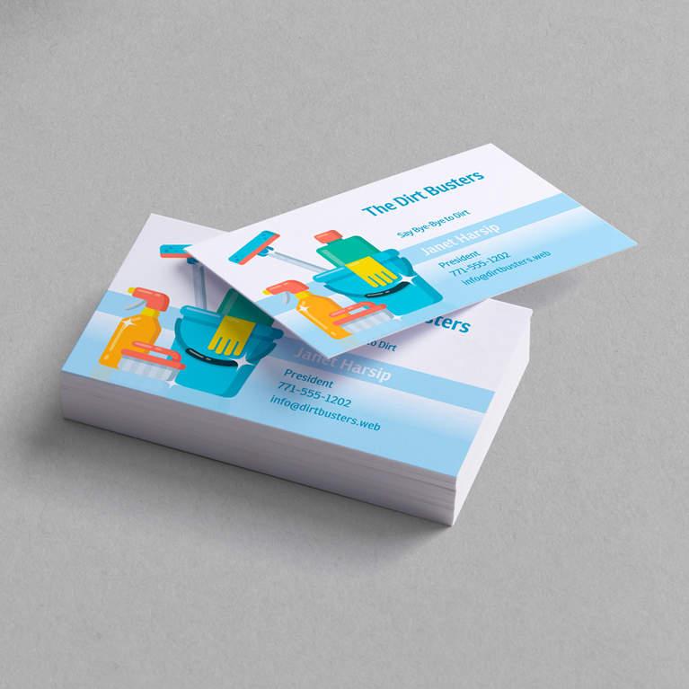کارت ویزیت برای خدمات نظافتی - طراحی کارت ویزیت