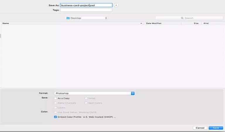ذخیره کارت ویزیت - طراحی کارت ویزیت با فتوشاپ