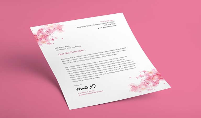 برای قاب بندی نامه خود از عکس یا تصویر استفاده کنید - طراحی آنلاین سربرگ
