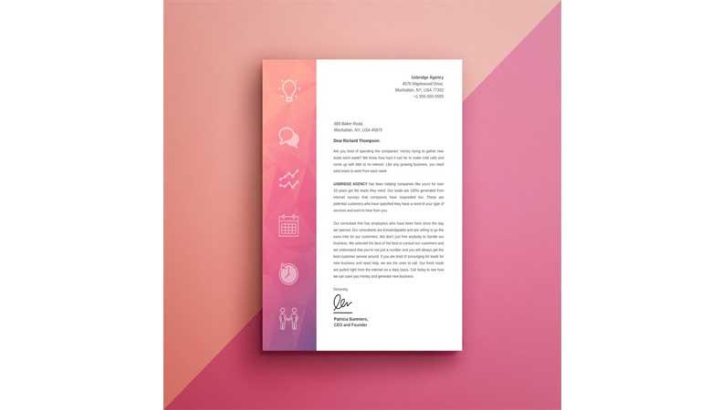 از شیب رنگ در سر صفحه یا ستون فقرات خود استفاده کنید - طراحی آنلاین سربرگ