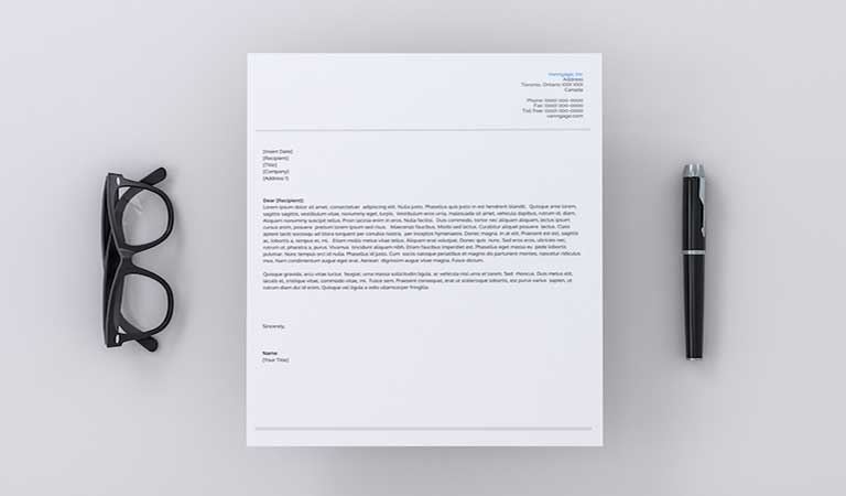 در صورت داشتن تردید، از یک طرح سربرگ ساده استفاده کنید - طراحی آنلاین سربرگ